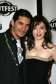 Jimmy Duval and Rose McGowan — Stock Photo