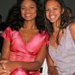 Kimberly Elise and Aja Bleu At Mercedes-Benz 2005 Spring Fashion Week at Smashbox Studios - Day 1, Smashbox Studios, Culver City, CA 10-25-04 — Foto de Stock