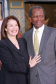 Sherry Lansing and Sydney Poitier — Stock Photo
