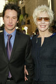 Keanu Reeves and Patric Taylor at Reeves induction in the Hollywood Walk of Fame, Hollywood, CA, 01-31-05 — Stock Photo