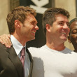 Постер, плакат: Ryan Seacrest Randy Jackson and Simon Cowell