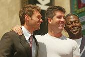 Ryan seacrest, randy jackson y simon cowell — Foto de Stock