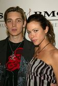 Alex Band and Jennifer Sky at the SONY BMG Grammy Party 2005, Roosevelt Hotel, Hollywood, CA, 02-13-05 — Stock Photo
