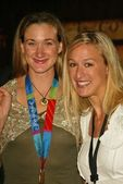 Kerri Walsh and Sarah Clark at the world premiere of Disneys National Treasure at the Pasadena Civic Auditorium, Pasadena, CA 11-08-04 — Stock Photo
