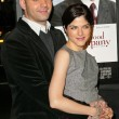 Ahmet Zappa and Selma Blair at the In Good Company Los Angeles Premiere, Graumans Chinese Theatre, Hollywood, CA, 12-06-04 - Stock Photo