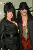 Slash and wife Perla — Foto Stock