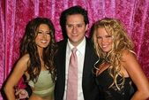 Kerri Kasem, Brian Wallos and Tina Jordan at the Bench Warmers Trading Cards Celebrates Fall Fantasy Release of the 2004 Trading Card Series, Bliss, West Hollywood, CA 11-20-04 — Zdjęcie stockowe