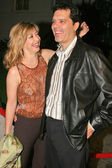 Sharon Lawrence and husband Tom — Stock Photo