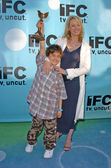 Virginia Madsen and son Jack Sabato — Stock Photo