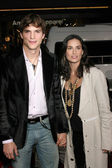Ashton Kutcher and Demi Moore — Stock Photo