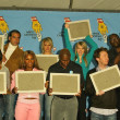 Serena Williams, Haylie Duff, Hilary Duff, Clay Aiken, Carl Lewis and Randy Jackson — Stok fotoğraf