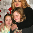 Kirstie Alley with kids Drew and Lilly — Stock Photo