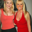 Alana Curry and Katie Lohmann at the Benchwarmer and Purrfect Angelz Dance Troupe launch party for an eight base tour of Iraq, Shelter, West Hollywood, CA 03-02-05 - Stock Photo