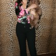 Fran Drescher and her dog Easther — ストック写真