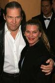 Jeff Bridges and wife Susan — Stock Photo