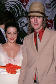 Lisa Marie Presley and Michael Lockwood — Stock Photo