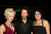 Patricia Taylor, Keanu Reeves and Kim Reeves — Stock Photo