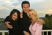 Devin Devasquez, Lorenzo Lamas and Barbara Moore — Stock Photo