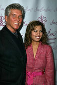 Michael Buffer with wife — Stock Photo