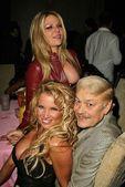 Shiloh McCormick, Tina Jordan and Jerry Buss — Stock Photo