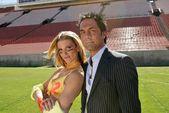 Linda Overhew and Mitch Mortaza — Stockfoto