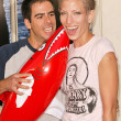 Eli Roth and date Natasha — Stockfoto