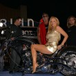 Cindy Margolis with Paul Teutul Jr., Paul Teutul Sr. and Michael Teutul — Stock Photo