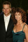 Bridget Moynahan and Tom Brady — Stock Photo