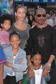 Eddie murphy och familj — Stockfoto