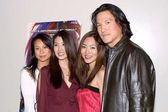 Christina Ma, Annie Lee, Angie Lee and Phillip Moon — Stock Photo