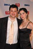 Jimmy Kimmel and Sarah Silverman — Stock Photo