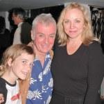 Director John Avildsen and his daughter Bridget with Brett Butler — Stock Photo #17230153