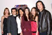 Faleena Hopkins, Jimmy Lee, Christina Ma, Annie Lee, Angie Lee and Phillip Moon — Stock Photo