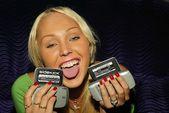 "Mary Carey with ""T-Mobile Sidekicks"" — Stock Photo"