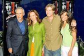 Dennis Hopper, Victoria Hopper, Chris Carmack and Nadine Velazquez — Stock Photo