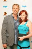 John Schneider and daughter Leah — Stockfoto