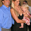 Laird Hamilton, Gabrielle Reece and their daughter Reece Viola Hamilton — Stock Photo