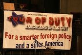 """Atmosphere at the second day of """"Tour Of Duty: Americans Speak Out — Stock Photo"""