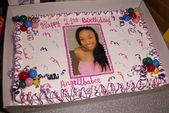 Angell Conwell's Birthday Cake — Stock Photo
