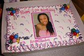 Angell Conwell's Birthday Cake — Stock Photo