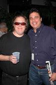 Tom Leykis and friend — Stock Photo