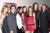 Faleena Hopkins, Jimmy Lee, Christina Ma, Annie Lee, Angie Lee, Phillip Moon and Jeff Fahey — Stock Photo