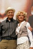 Norman Lear and Christina Aguilera — Stock Photo