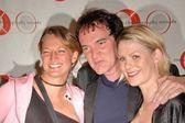 Zoe Bell, Quentin Tarantino and Monica Staggs — Stock Photo