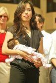 Connie angland en dochter — Stockfoto