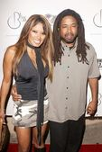 Traci Bingham and brother — Stock Photo
