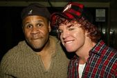 Rondell Sheridan and Carrot Top — Stock Photo