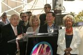 Johnny Grant, Grace Lee Whitney, George Takei and Nichelle Nichols — Stock Photo