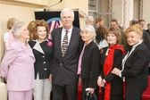 Ann Rutherford, Cora Sue Collins, Ted Turner, Betty Garrettt, Margaret O'Brien and Esther Williams — Stock Photo