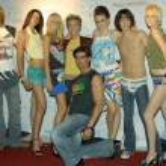 U-Ware Designer Jonah Blechman and models — Stock Photo #17271017